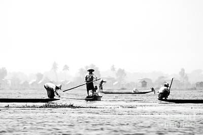 Fishermen In Inle Lake Myanmar Original