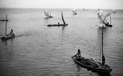 Photograph - Fishermen Lagos Lagoon H by Muyiwa OSIFUYE