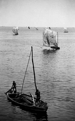 Photograph - Fishermen Lagos Lagoon V by Muyiwa OSIFUYE