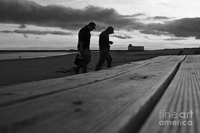 Fishermen Marching Home After A Hard Day Of Work Art Print