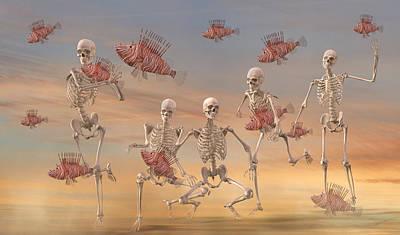 Fantasy Digital Art - Fishermen Never Give Up by Betsy C Knapp by Betsy Knapp