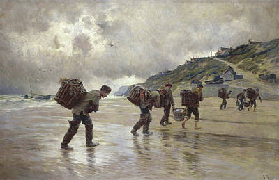 Painting - Fishermen Of Equihen by Mountain Dreams