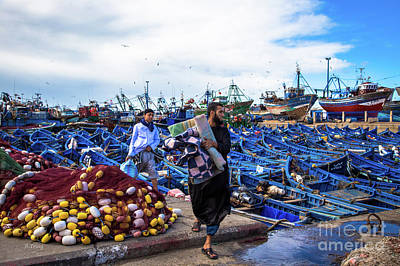 Photograph - Fishermen Of Essaouira Marrakesh II by Rene Triay Photography