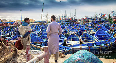Photograph - Fishermen Of Essaouira Marrakesh by Rene Triay Photography