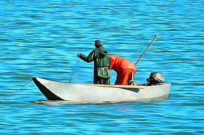 Photograph - Fishermen On Lake Trasimeno by Dorothy Berry-Lound