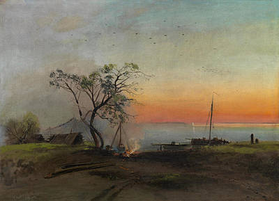 Alexei Savrasov Painting - Fishermen On The Volga by Alexei Savrasov