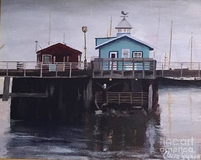 Painting - Fishermen Respite by Claire Gagnon