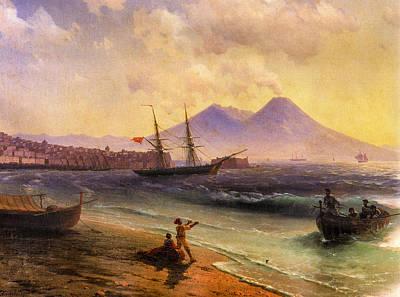 1874 Digital Art - Fishermen Returning Near Naples 1874 Detail by Ivan Aivazovsky