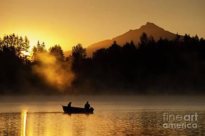 Photograph - Fishermen Sunrise Fishing by Jim Corwin