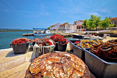 Photograph - Fishermen Village Of Veli Rat Waterfront View by Brch Photography