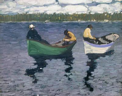 Painting - Fishermen by George Luks
