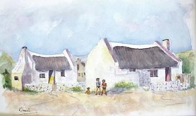 Painting - Fishermen's Cottages Arniston by Harold Kimmel