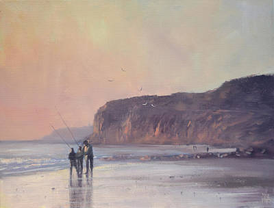 Painting - Fishers At Port Willunga by Mike Barr
