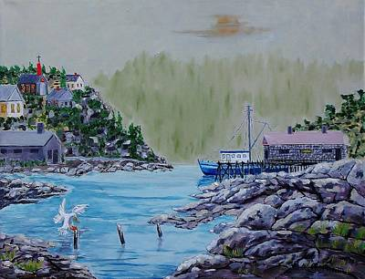 Painting - Fisher's Cove by Mike Caitham