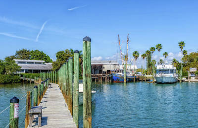 Art Print featuring the photograph Fishery Restaurant Dock And Harbor by Frank J Benz