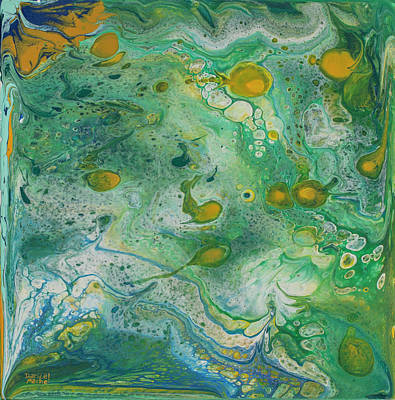 Painting - Fishes In The Deep Green Sea by Darice Machel McGuire