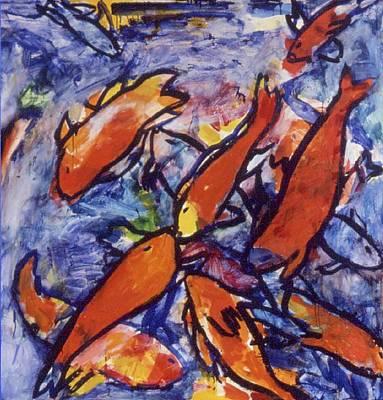 Fishes Art Print by Nina Talbot