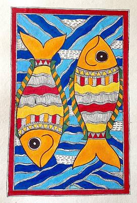 Painting - Fishes by Vidushini Prasad