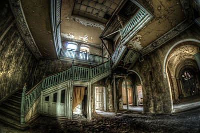 Haunted House Digital Art - Fisheye From Below  by Nathan Wright