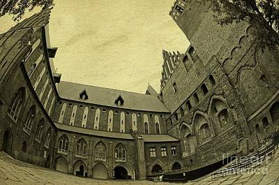 Photograph - Fisheye Of The Kwidzyn Castle Poland by Elzbieta Fazel