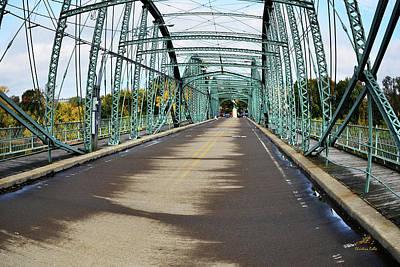 Photograph - Fisheye South Washington St. Bridge by Christina Rollo