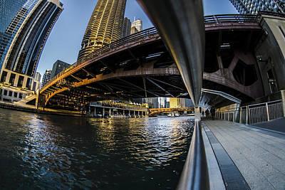 Fisheye View From The Chicago Riverwalk Art Print