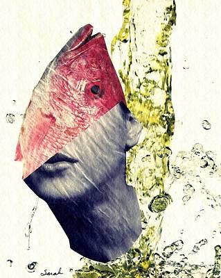 Avant Garde Mixed Media - Fishhead by Sarah Loft