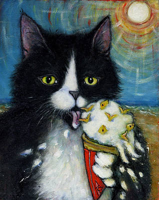 Licking Painting - Fishies N Cream by Heidi Shaulis