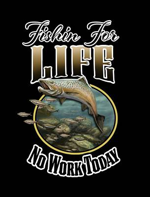 Digital Art - Fishin For Life by Peggy Novak