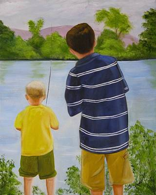 Painting - Fishin by Joni McPherson