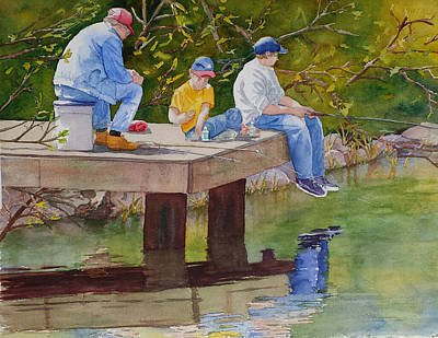 Painting - Fishin' by Judy Mercer