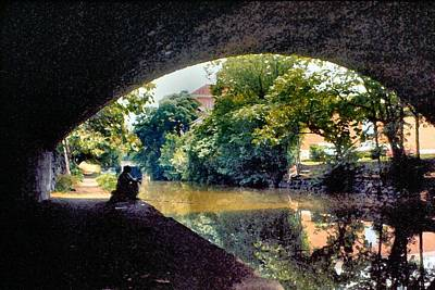 Georgetown Digital Art - Fishin' The C And O Ditch by Lin Grosvenor
