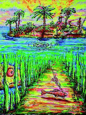 Painting - Fishing #1 by Viktor Lazarev