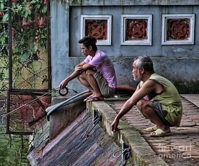 Kiem Photograph - Fishing 2 Vietnamese Men  by Chuck Kuhn