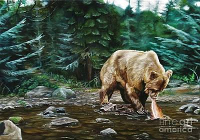 Painting - Fishing Alaska by Heidi Parmelee-Pratt