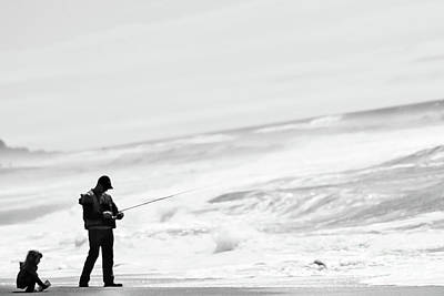 Photograph - Fishing Along The Coast Of Oregon by Arius Holifield