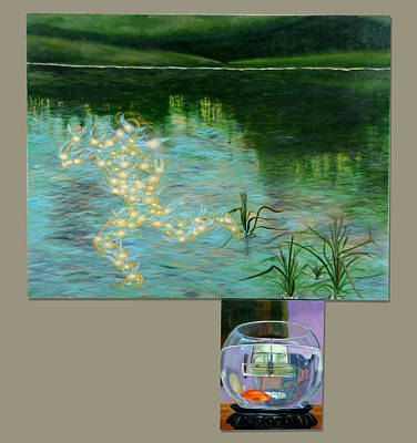 Painting - Fishing by Anne Cameron Cutri