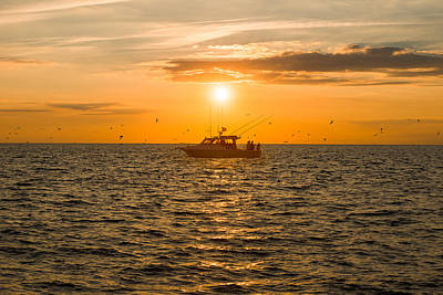 Photograph - Fishing As The Sun Goes Down by Mark Robert Rogers