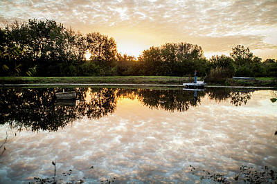 Photograph - Fishing At Dawn by Wade Courtney