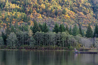 Harrison Hot Springs Wall Art - Photograph - Fishing At Deer Lake by Michael Russell