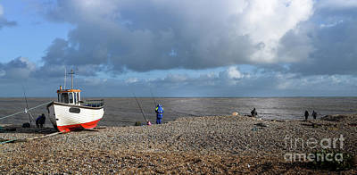 Photograph - Fishing At Dungeness Beach by Perry Rodriguez