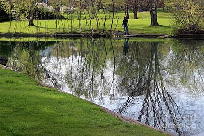Photograph - Fishing At Franklin Park by Karen Adams