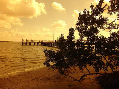 Photograph - Fishing At Golden Hour by Florene Welebny