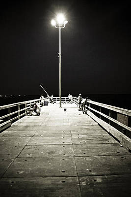 Fish Photograph - Fishing At Night by Marilyn Hunt