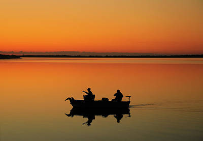 Photograph - Fishing At Sunrise by Dan Sproul
