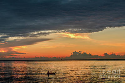 Photograph - Fishing At Sunrise by Michelle Meenawong