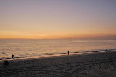 Fishing At Sunrise Art Print by Mimi Katz