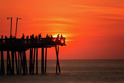 Photograph - Fishing At Sunrise by Travis Rogers