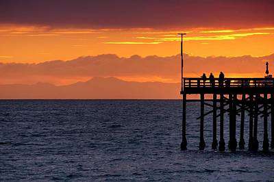 Art Print featuring the photograph Fishing At Sunset by Quality HDR Photography