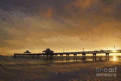 Photograph - Fishing At Sunset by Scott Wood